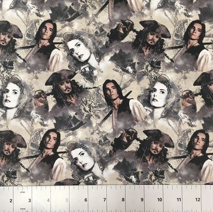 Pirates of the Carribean (100% Cotton Fabric)