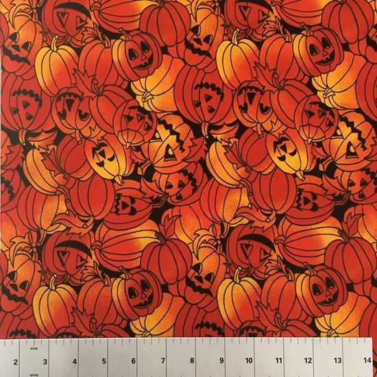 Halloween Pumpkins (100% Cotton Fabric)