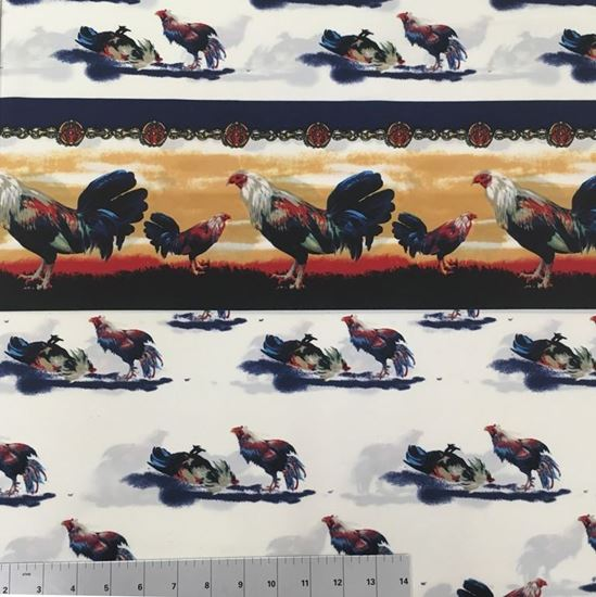 Roosters (Poly Cotton Fabric)  in Houston