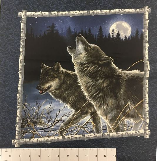 Lone Wolf (Poly Cotton Fabric) in Houston