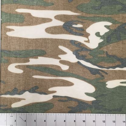 Worn Look Camouflage  (Stretch Cotton Knits Fabric) in Houston