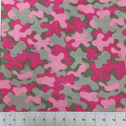 Waffle Knit Pink Camouflage (Stretch Cotton Knits Fabric) in Houston