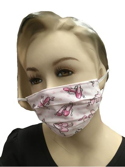 Buy Child Ballet Shoes COVID-19 coronavirus Fashion Face Mask (3-layer) in Houston and Sugar Land
