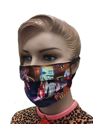 Buy Halloween Monster Party, Night 2 COVID-19 coronavirus Fashion Face Mask (3-layer) in Houston and Sugar Land